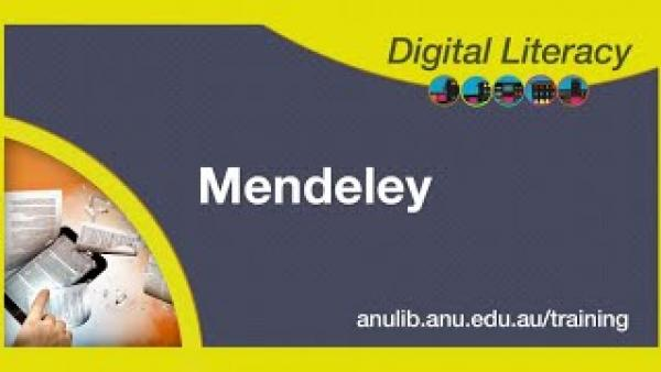 Mendeley in an Hour